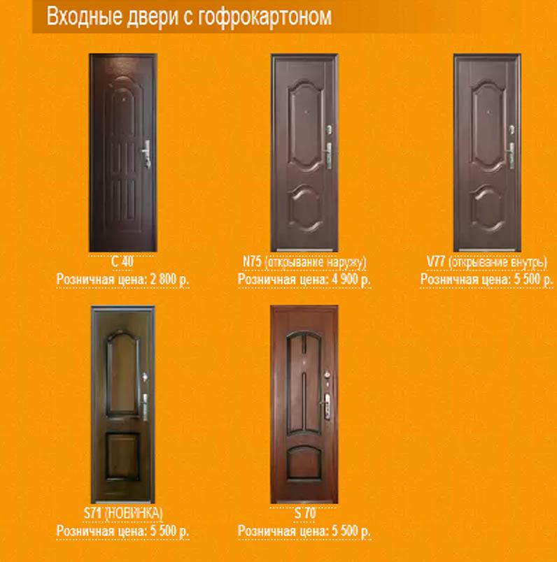 металлические двери каталог установка